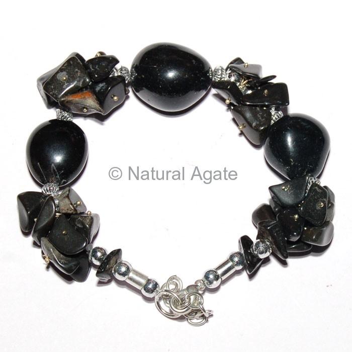 Black Onyx Gemstone Bracelets