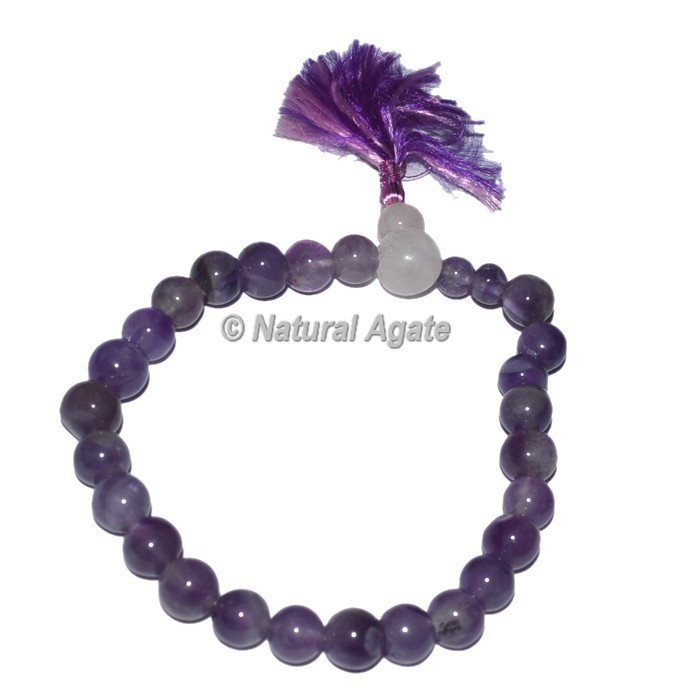 Rose Quartz with Amethyst Power Bracelets with