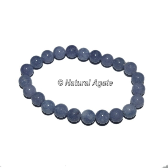 Light Blue Lace Agate Gemstone Bracelets