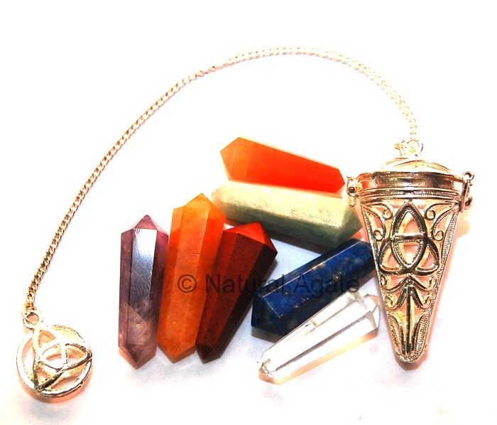 Chakra Cage Pendulums with Double point