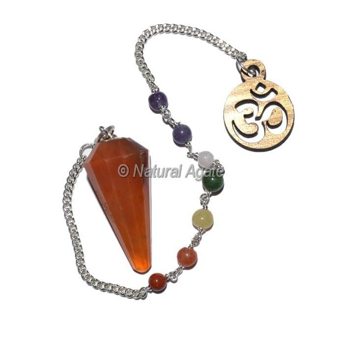 Peach Aventurine 12 Faceted Chakra Pendulums