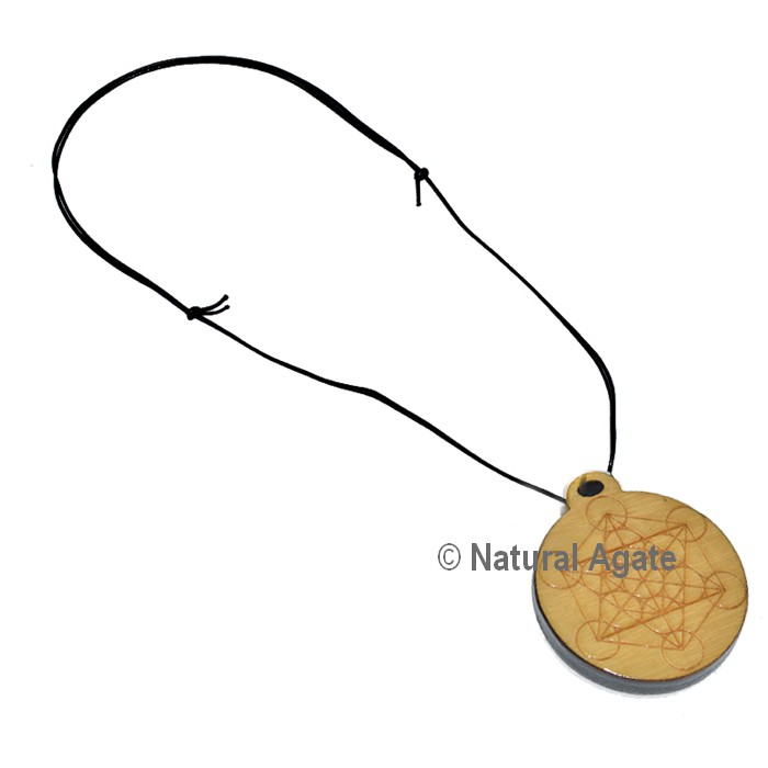Metatrone Engraved Wooden Pendants