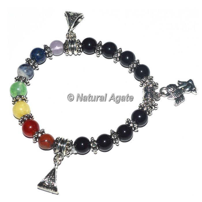 7 Chakra Stone Bracelets with Angels