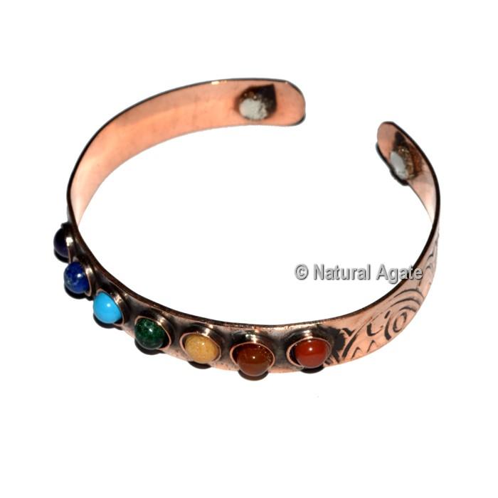 7 Chakra Copper Bracelet