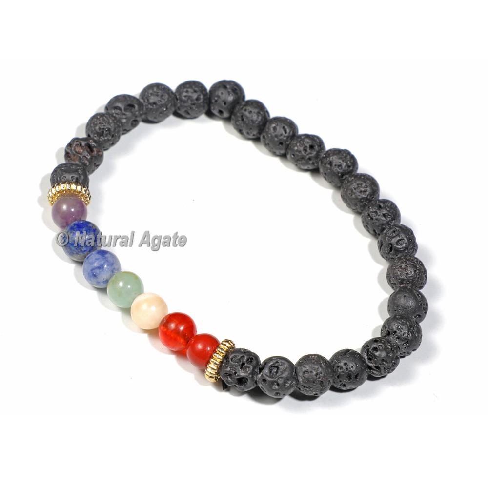 Lava Stones 7 Chakra Bracelet