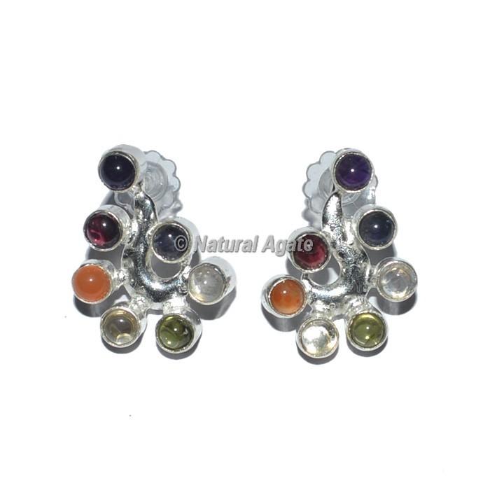 Heart Seven  Chakra Earrings