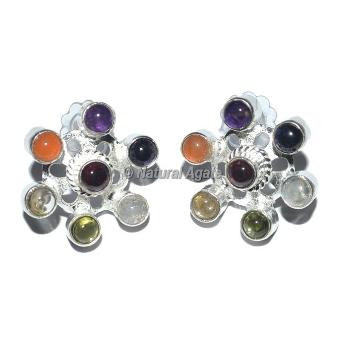 Round Seven Chakra Earrings