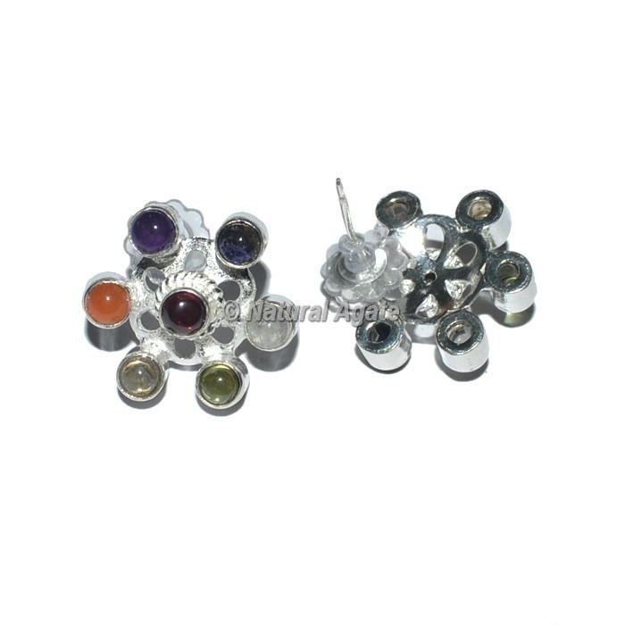 New flower Seven Chakra Earrings