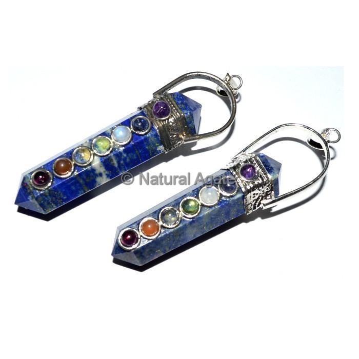 Duble Point Lapis Lazuli Chakra Pendant