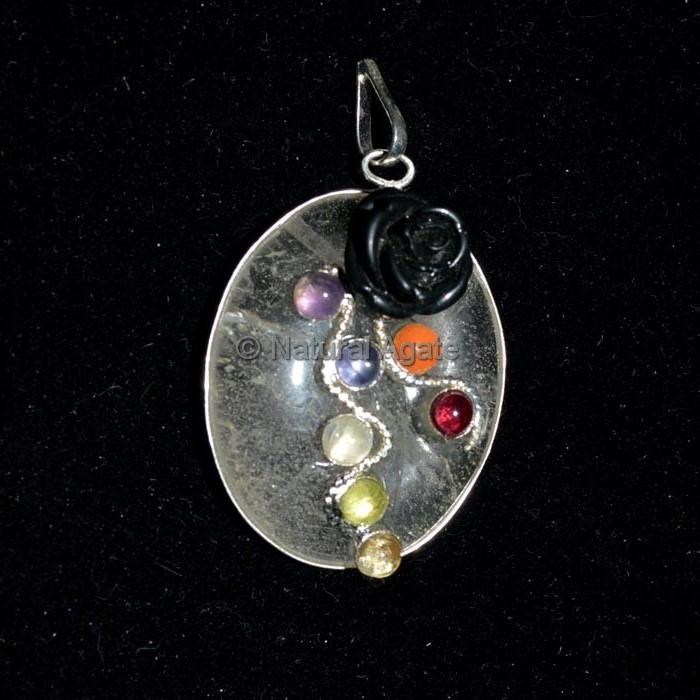 Crystals Seven Chakra Pendant