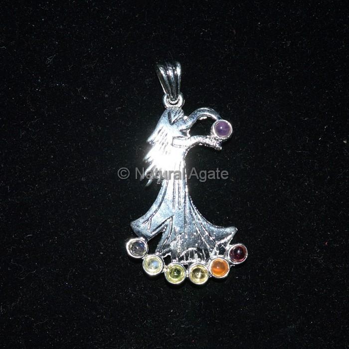 Lady Silver Chakra Pendant