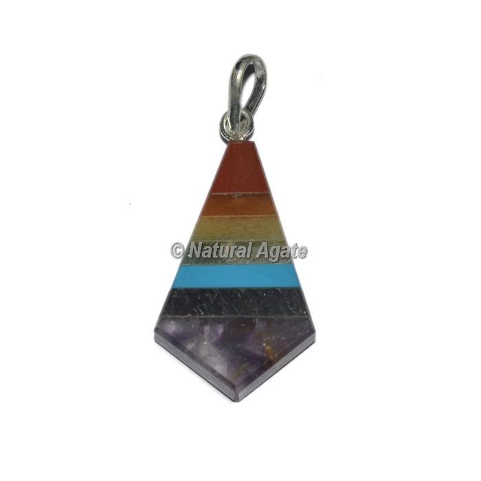 Seven Chakra Triangle Shape Pendants