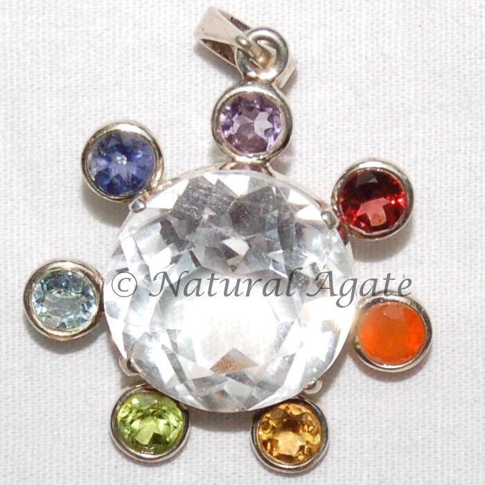 Crystals Chakra Pendants