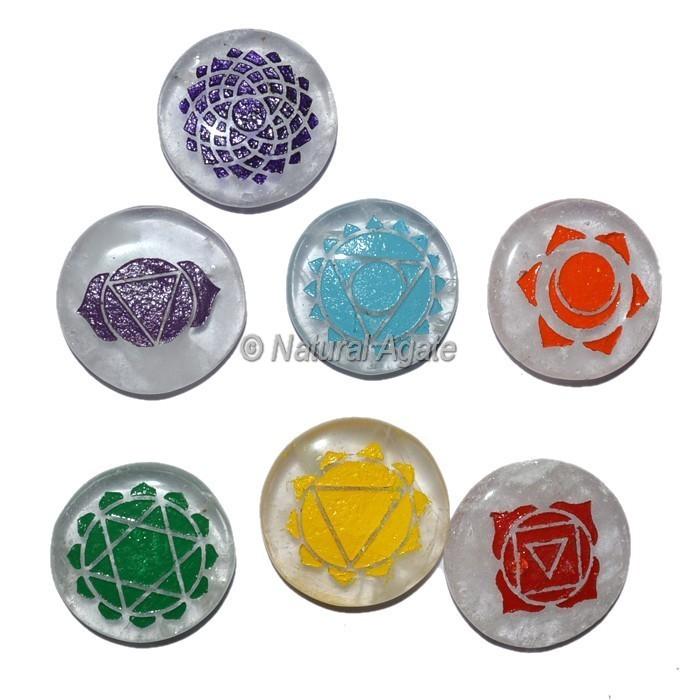 Chakra Set of Crystal Quartz Color