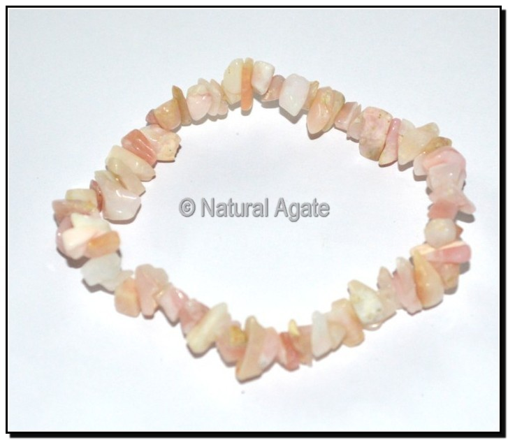Light Pink Opal Chips Bracelets