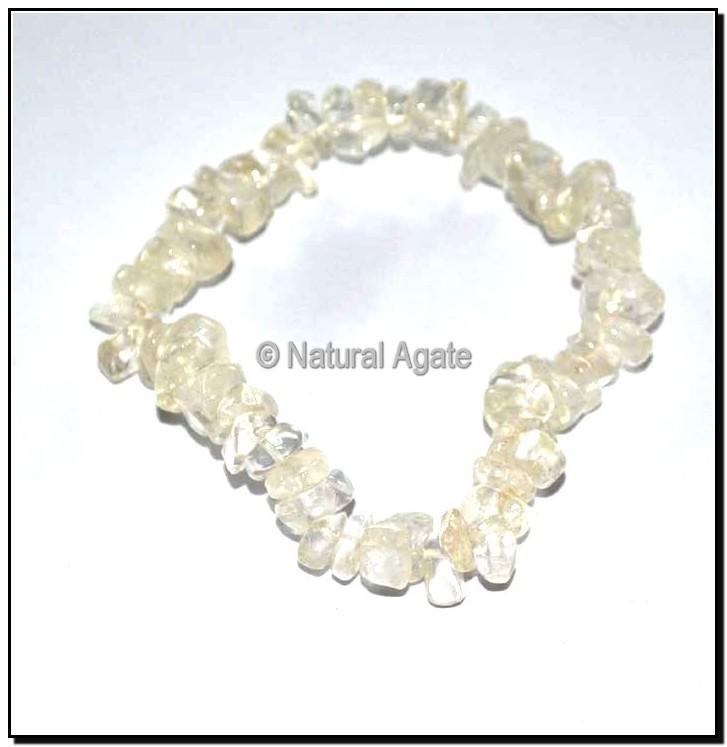 White Crystal Quartz Chips Bracelets