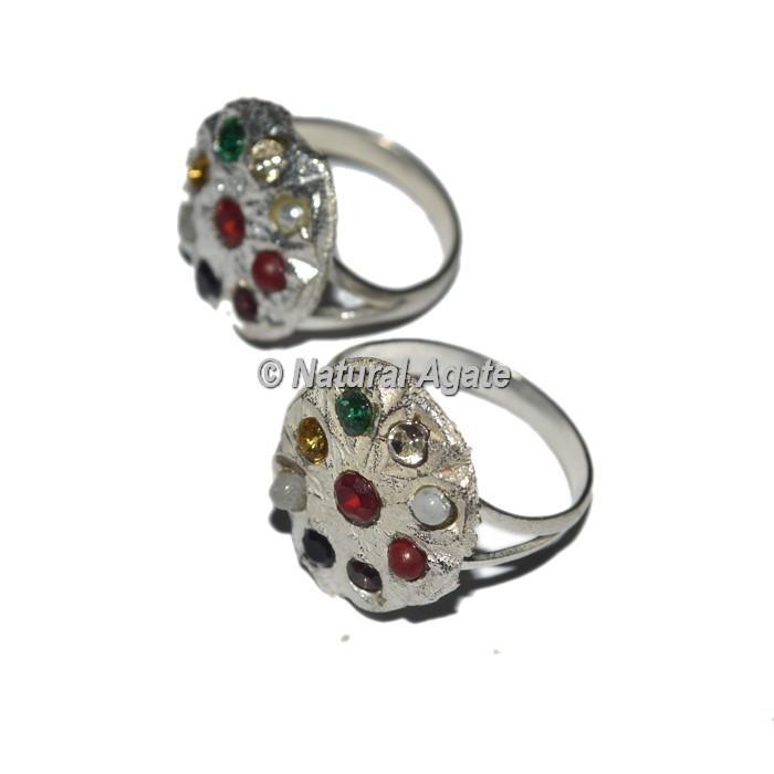 9 Stone Sliver Chakra Ring