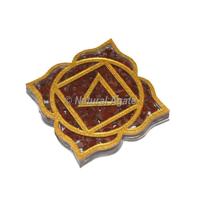 Root Chakra Red Jasper Orgone Coaster
