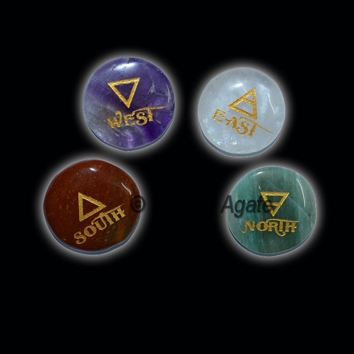 4 Stone Disc Element Set