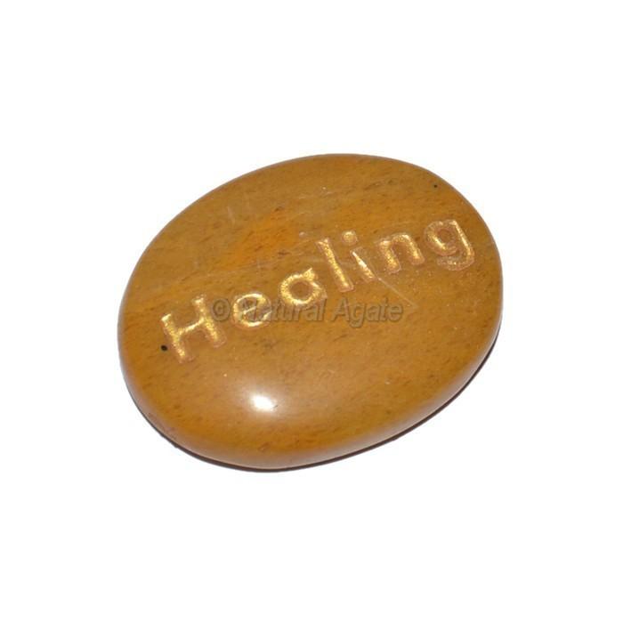 Yellow Jasper Healing Engraved Stone