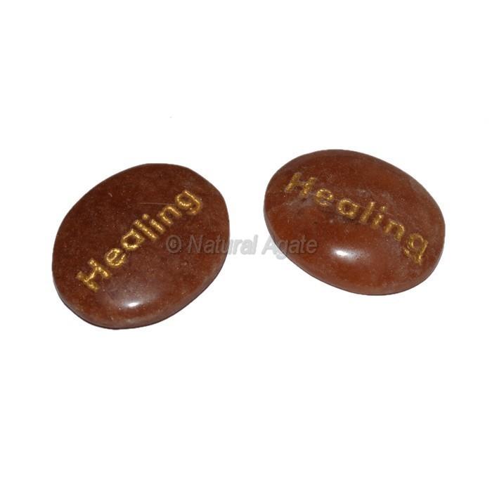 Peach Aventurine Healing Engraved Stone