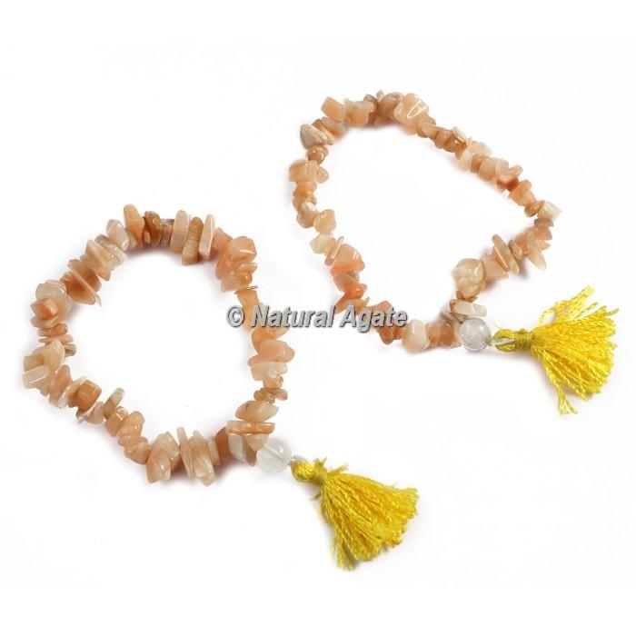 Golden Quartz Chips Healing Yoga Bracelet
