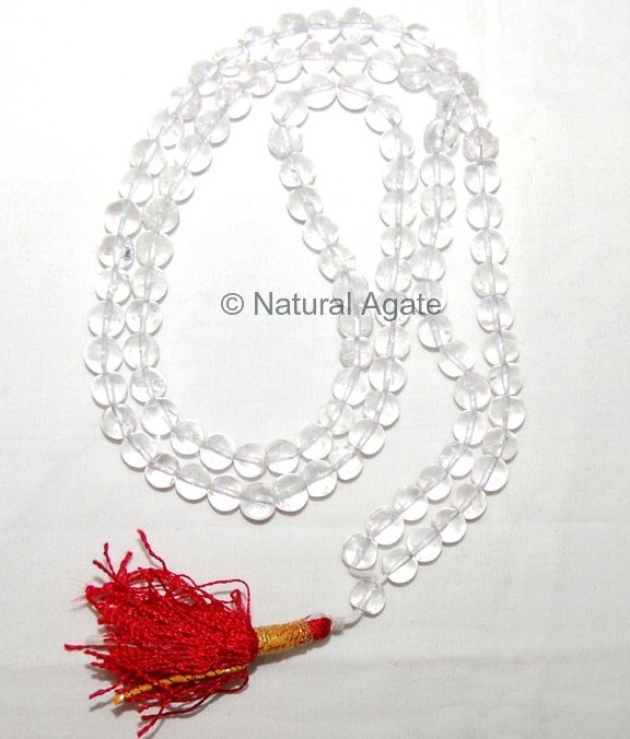 Crystal Quartz High Grade Clear Mala