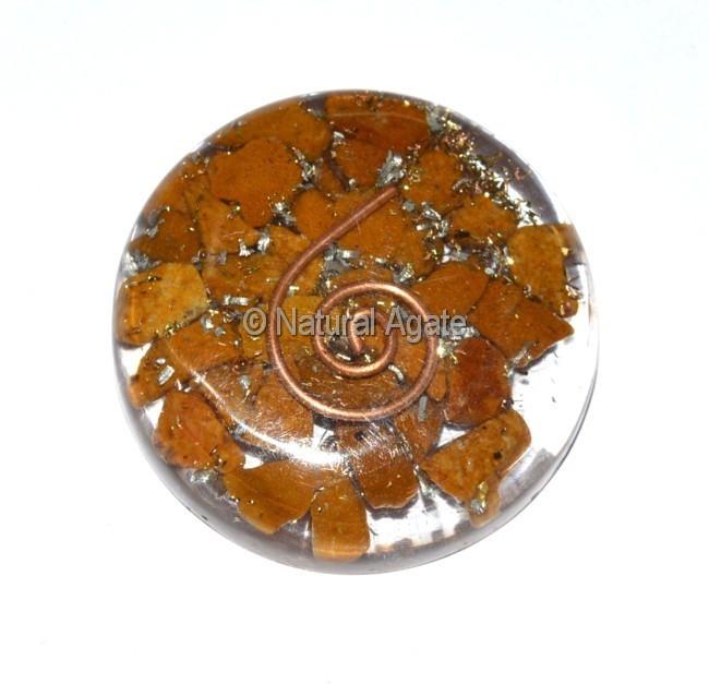 Yellow Jasper Orgone Disc