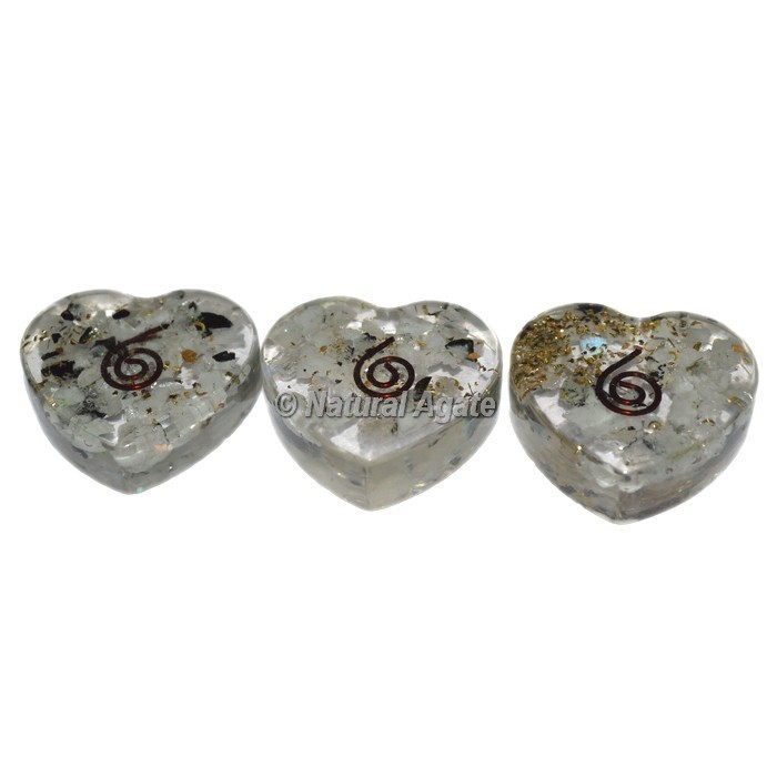 Rainbow Moonstone Orgonite Heart Cab