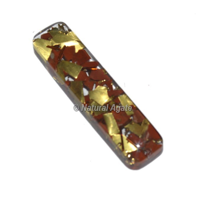 Red Jasper With Copper Orgone Rectangle