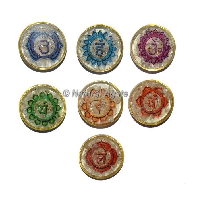 Crystal Quartz Colorful Seven Chakra Printed Set