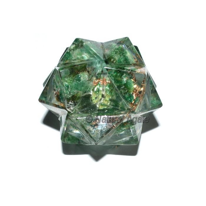 Orgone 20 Point Green Jade Merkaba Star