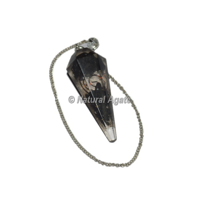Orgone Black Tourmaline Pendulum