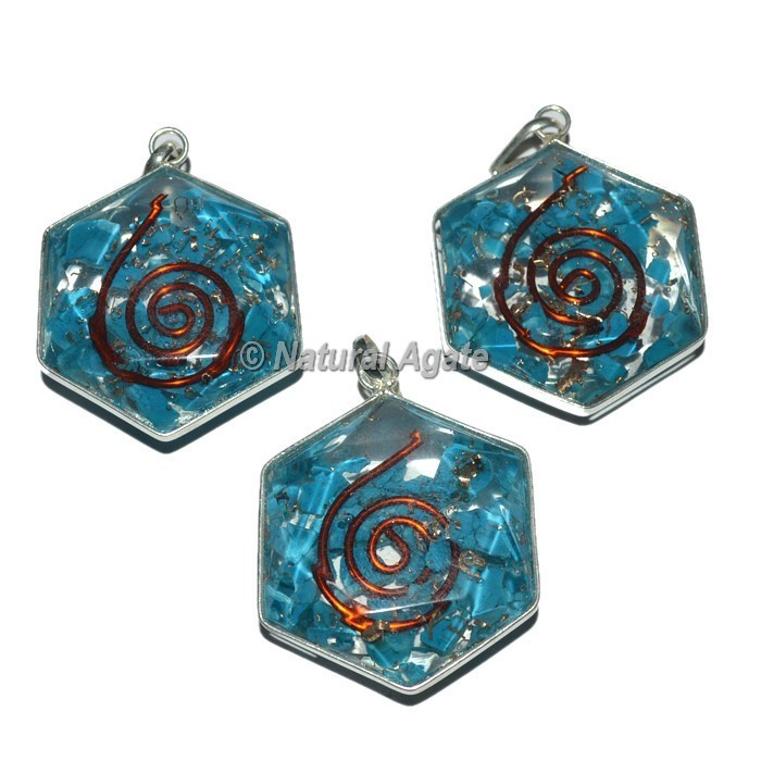 Turquoise David Star Orgone Pendants