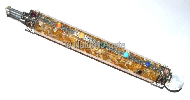 Golden Quartz Orgone Healing Wands