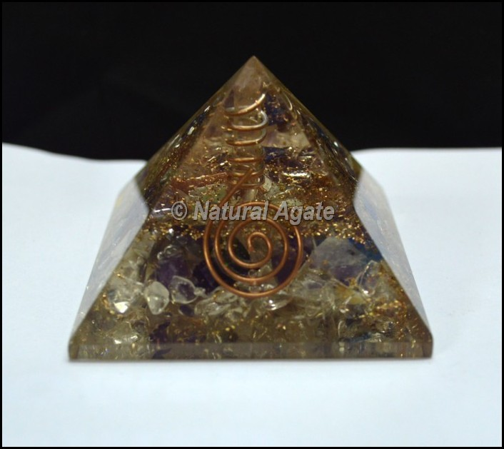 Quartz Point Orgone Pyramid