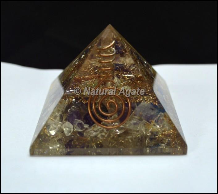 Quartz Point Orgone Pyramid