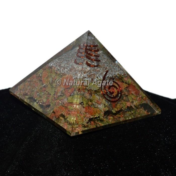 Unakite Orgonite Pyramid