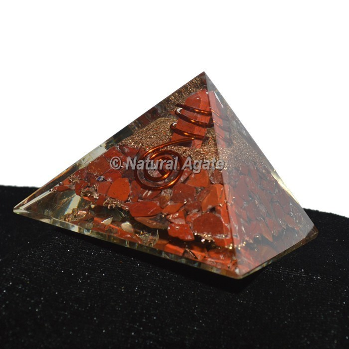 Red Jasper Orgonite Pyramid
