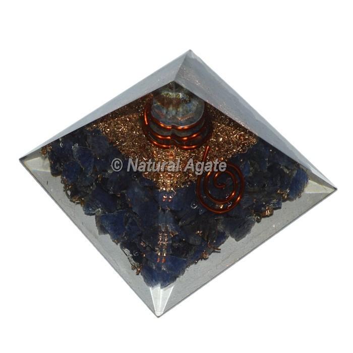 Iolite Orgone Pyramid