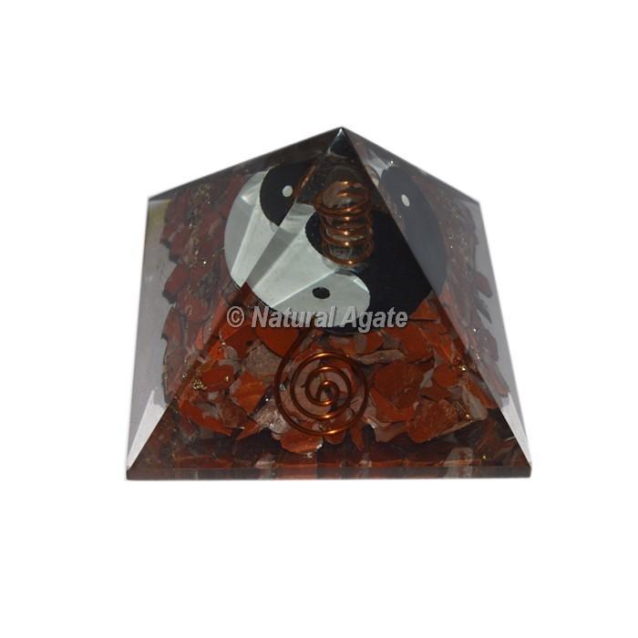 Red Carnelian Ying Yag Orgone Pyramid