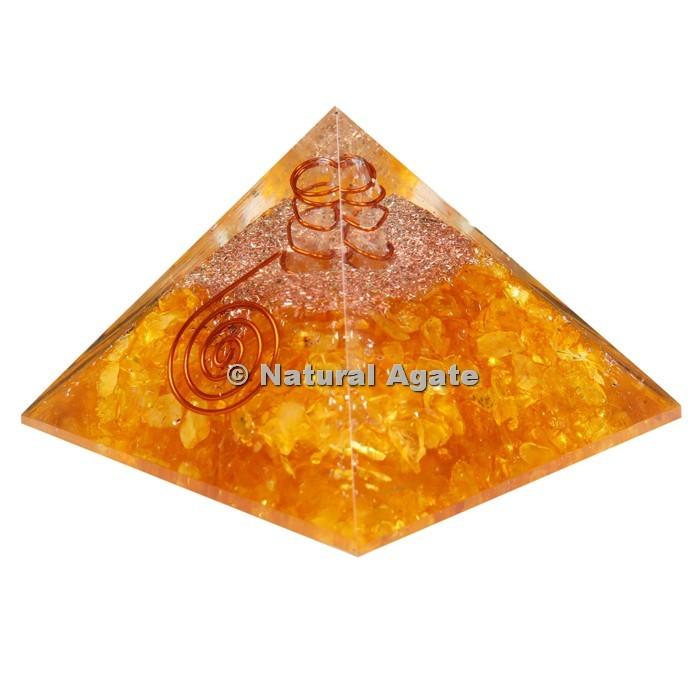 Lemon Citrine Orgone Pyramid