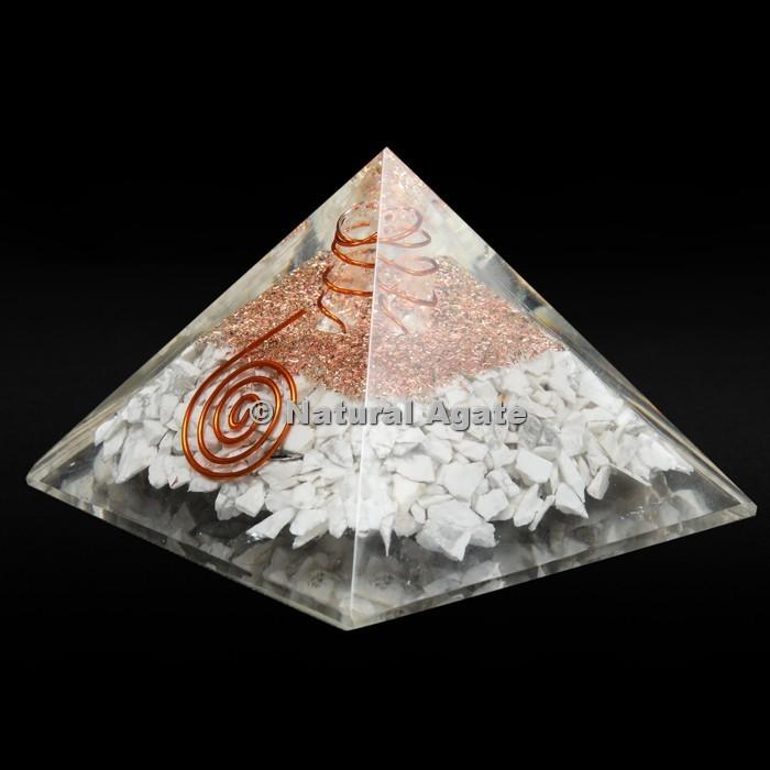 Howlite Orgone Pyramid