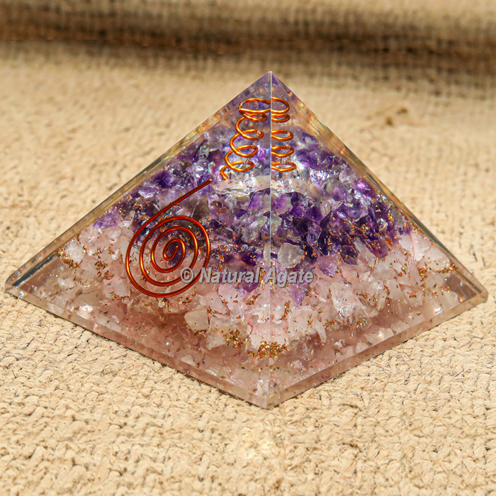 RAC with Crystal Point Orgonite Protection Pyramid