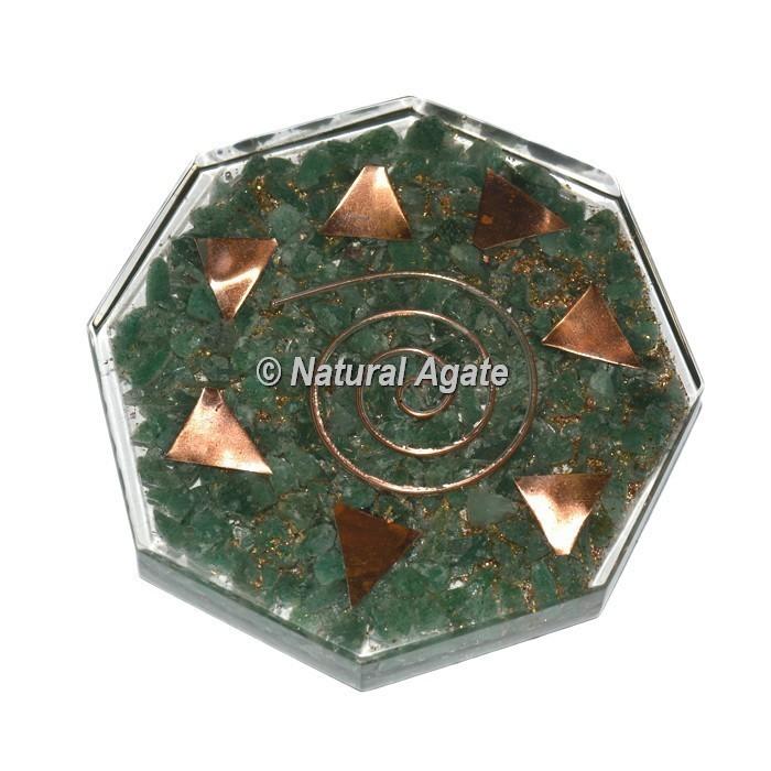 Green Aventurine Orgone Vastu Coaster
