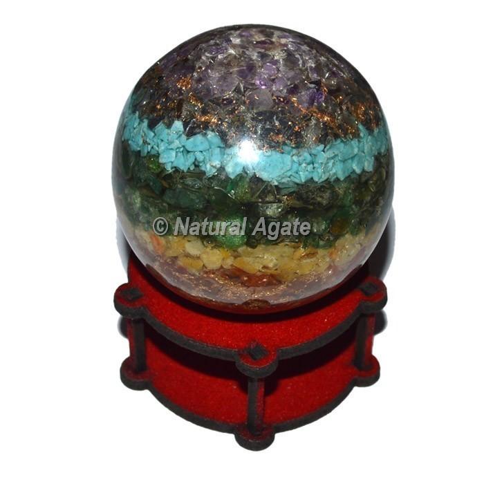 7 Chakra Bonded Orgonite Energy Sphere