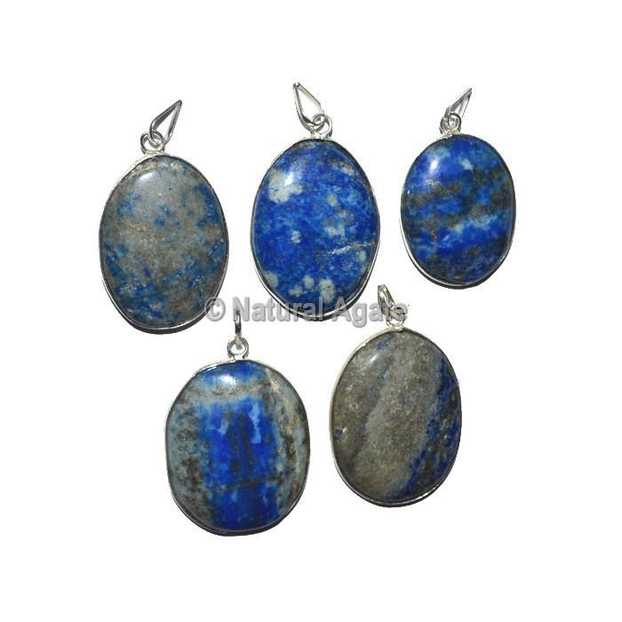 Lapis Lazuli Oval Healing Pendants