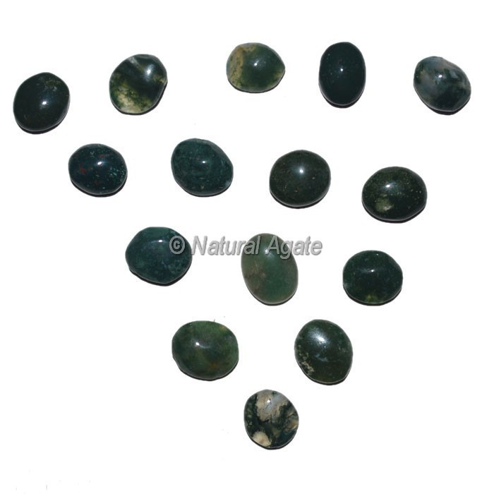 Moss Agate Ring Cabochons