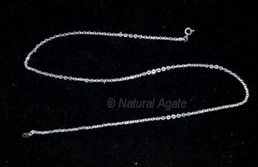 Silver Brass Necklace Chain