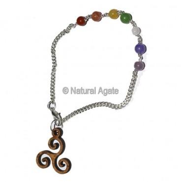 Celtic Symbol Chakra Pendulum Chain
